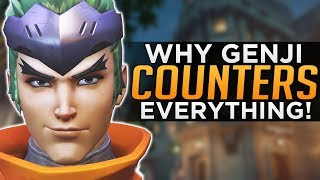 Overwatch: Genji Counters EVERYTHING!