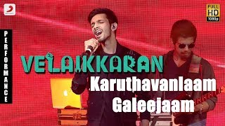 Velaikkaran Audio Launch - Anirudh Karuthavanlaam Galeejaam Performance
