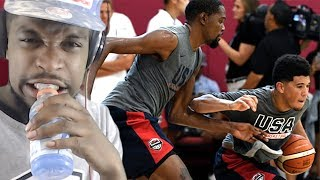 DURANT WINS HEATED 1 ON 1 DRILL! USA BASKETBALL CRAZY KING OF THE COURT