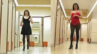 Shopping clothes, high heels and underwear - Transvestite - Crossdresser