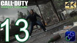 CALL OF DUTY 4 Modern Warfare Remastered PC 4K Walkthrough - Part 13 - Act 2: The Sins of the Father