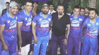 Sanjay Dutt At Team Mumbai Heroes Cricket Match | Sohel Khan, Sunil Shetty, Sonu Sud