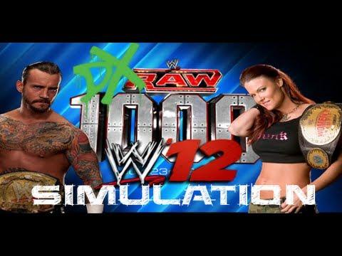 WWE Raw 1000th Episode WWE 12 Simulation