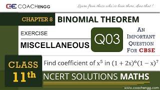 BINOMIAL THEOREM - Miscellaneous Q3 - Class 11 MATHS NCERT Solution