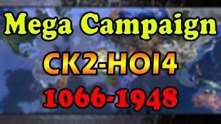 CK2-HOI4 Mega Campaign Timelapse 1066-1948