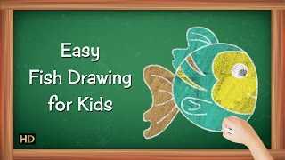 Easy Fish Drawing for Kids | Kids Learning Video | Shemaroo Kids