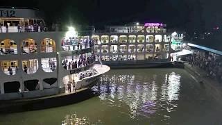 পারাবত ১২ লঞ্চ | Biggest & Luxurious Launch | Parabat 12 at barisal launch ghat