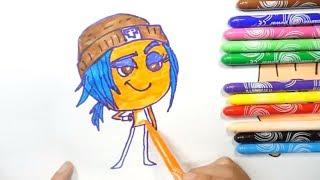 How to Draw Emoji Jailbreak | Kids Learn Drawing The Emoji| Art Colours Emoji for Children ZoZo TV