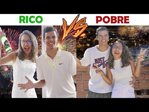 RICO VS POBRE ANO NOVO KIDS FUN