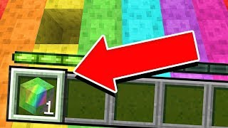 PLAYING MINECRAFT WITH 1 RAINBOW BLOCK... (is it possible?)
