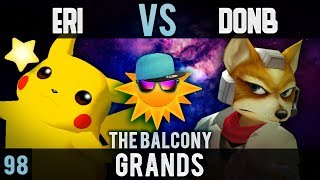 Melee @ the Balcony 98 - Grands ft. Eri (Pikachu) VS DonB (Fox)