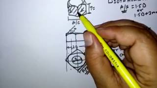 SQUARE NUT (ENGG. DRAWING) हिन्दी  ! LEARN AND GROW
