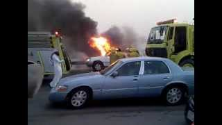 runninng car fire