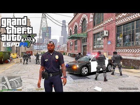 GTA 5 LSPDFR 0.3.1 - EPiSODE 28 - LET'S BE COPS - CITY PATROL (GTA 5 PC POLICE)