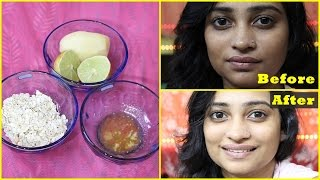 NATURAL Facial at HOME in 10 Minutes for Instant Glowing, BRIGHT, Fairer, Fresh Looking Skin : DIY