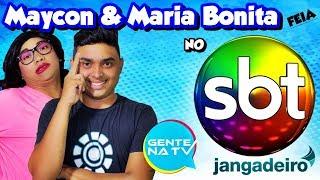 MAYCON E MARIA BONITA FEIA NO GENTE NA TV - Sbt