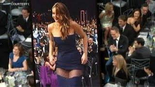 Jennifer Lawrence Dress Rip Not A Wardrobe Malfunction at SAG Awards