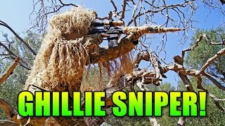 Ghillie Suit PolarStar SR-25 Sniper | Airsoft Gameplay