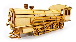 TRAINS FOR CHILDREN VIDEO: Motorica Constructor Wooden Model Train