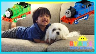 Thomas and Friends around the Hotel Toy Trains for Kids Disney Cars Ryan ToysReview