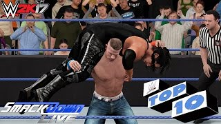 WWE 2K17 - Smackdown Live Top 10 Moments | Jan. 10, 2017