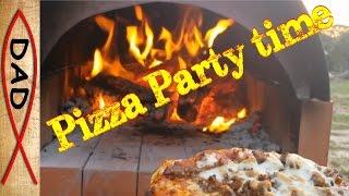 Backyard brick pizza oven for under $50