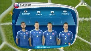Slovakia line-up v Germany: UEFA EURO 2016