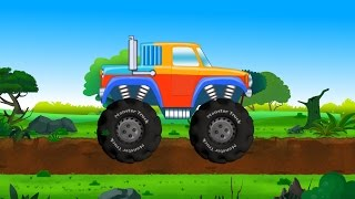 monster truck safari | jungle car adventure | trucks for kids