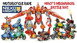 Nexo Knights Macy's Mechanical Battle Suit & Motorcycle Ride Unofficial LEGO Knockoff Set