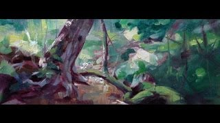 A Plein Air Painting in Oils by Noah Bradley