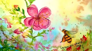 LIVE: Bee & Blossom Soft Focus Watercolor // 12:30pm Eastern Time