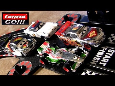 Cars 2 Carrera Go Slot Racing Track Silver Lightning McQueen Max Schnell Disney Racer Speeders
