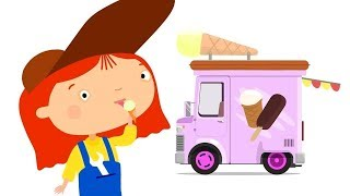 The Car Doctor & the Ice Cream truck for kids. Cartoon.