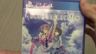 Unboxing Blue Reflection Gust Tecmo Koei Sony PS4 Persona Clone