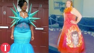 """10 Prom Dresses That Were """"A Bit"""" Too Extra"""