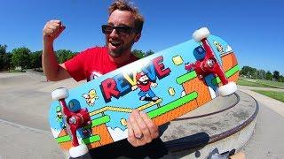 Ultimate VIDEO GAME ReVive Skateboard Setup! / Andy Schrock