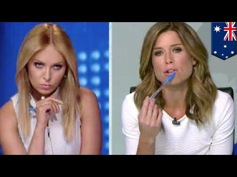 TV host meltdown: Australian Amber Sherlock fights co-host Julie Snook over white outfit - TomoNews