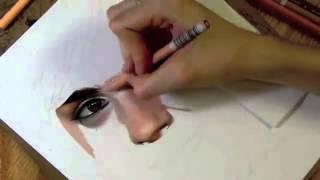 материал нитей, видео как человек рисует средство