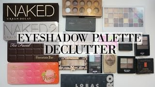 MAKEUP DECLUTTER: Eyeshadow Trios, Quads & Palettes!