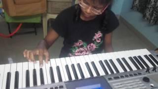 chusa chusa song from dhruva played on keyboard by sahasra