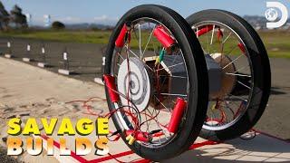 Adam Savage Recreates a Mini WWII Panjandrum | Savage Builds