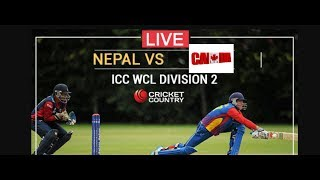 Nepal vs Canada Live score, Commentary, 13th match, ICC World Cricket League Division Two at Windho