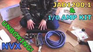 NVX JAD1200.1 Bass Amp & 1/0 Gauge XAPK1d Amplifier Wiring Kit UNBOXING / Pure Copper Wire