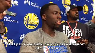DRAYMOND GREEN responds to President Donald Trump's tweet and reacts to LeBron James' support