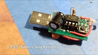 555 Timer nightlight - a simple electronics project