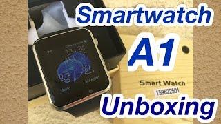 Smartwatch A1-Unboxing e Primeiras Impressoes - O melhor clone/Réplica do Apple Watch? Em PORTUGUES