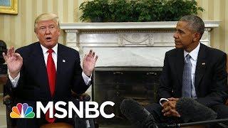 Reverend Al Sharpton: President Donald Trump Wants Obama To Be More Public | Morning Joe | MSNBC