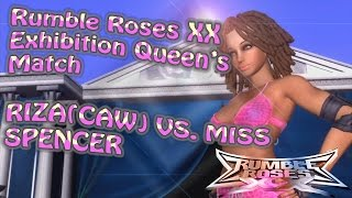 [Rumble Roses XX]Exhibition Queen's Match Riza(CAW) Vs. Miss Spencer 11262016