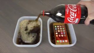 Samsung Galaxy S7 Edge vs. iPhone 6S Plus Coca-Cola Freeze Test 9 Hours! Will It Survive Or Not ?