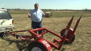 Haul hay the easy way with the 2EZ-ONE bail mover at GoBob Pipe & Steel Sales